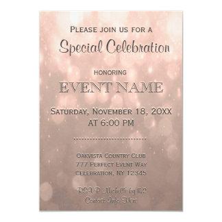 All Purpose | Peach Bokeh 5x7 Paper Invitation Card