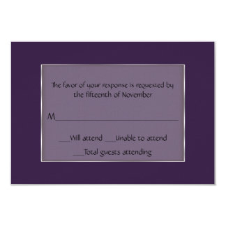 All Purpose Purple and Silver Response Card
