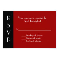 All Purpose Red and Black RSVP Response Card