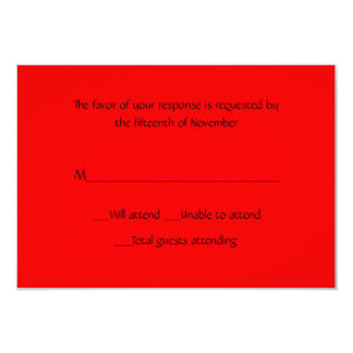All Purpose Red Response Card