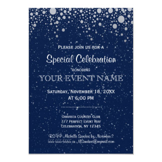 All Purpose | Starry Night in Blue 5x7 Paper Invitation Card