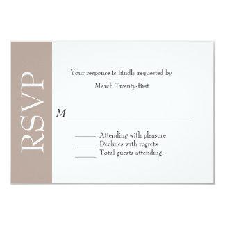 All Purpose Taupe & White RSVP Card Custom Invitations