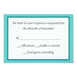 All Purpose Teal and White Response Card