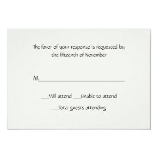 All Purpose Winter White Response Card