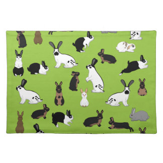 All rabbits cloth placemat