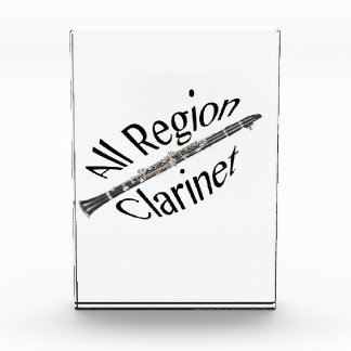 All REGION CLARINET Player Award Plaque ANY COLOR