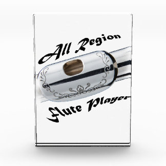 All Region Flute Player Plaque