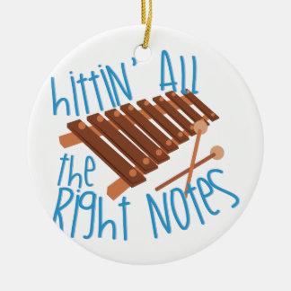 All Right Notes Ceramic Ornament