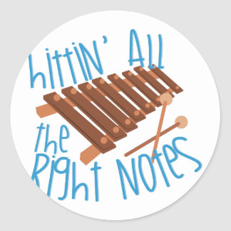 All Right Notes Classic Round Sticker
