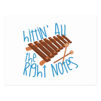 All Right Notes Postcard