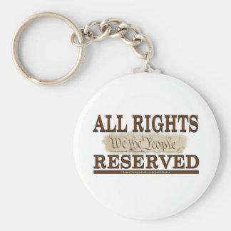 All Rights Basic Round Button Keychain