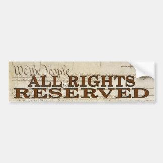 All Rights Car Bumper Sticker