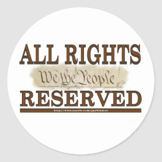 All Rights Classic Round Sticker