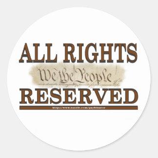 All Rights Classic Round Sticker