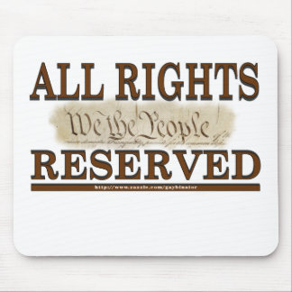 All Rights Mouse Pad