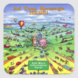 All Roads Lead to Asutin Texas Square Sticker
