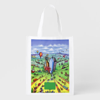 All Roads Lead to Dallas Texas Reusable Grocery Bag