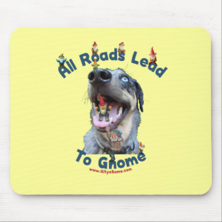 All Roads Lead to Gnome Dog Mouse Pad