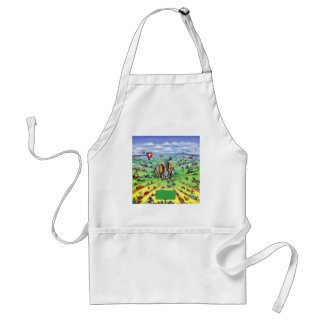 All Roads Lead to Houston Texas Adult Apron