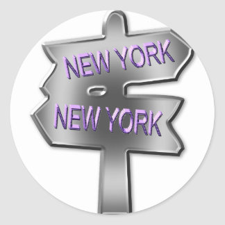 ALL ROADS LEAD TO NEW YORK CLASSIC ROUND STICKER