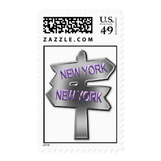 ALL ROADS LEAD TO NEW YORK STAMPS