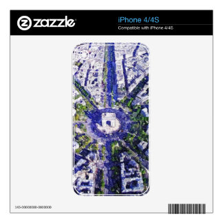 All Roads lead to Paris iPhone 4S Skins