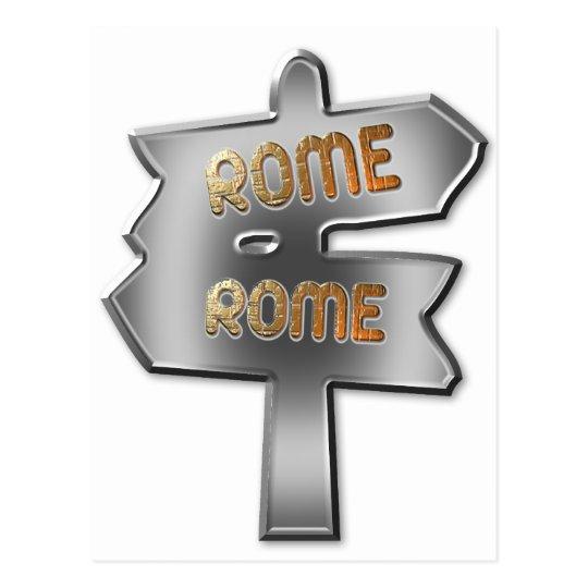 ALL ROADS LEAD TO ROME POSTCARD