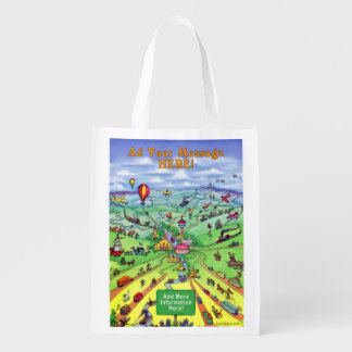 All Roads Lead to San Antonio Texas Grocery Bag