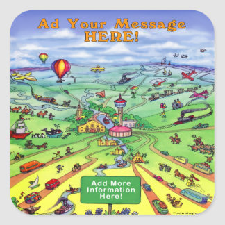 All Roads Lead to Texas Square Sticker