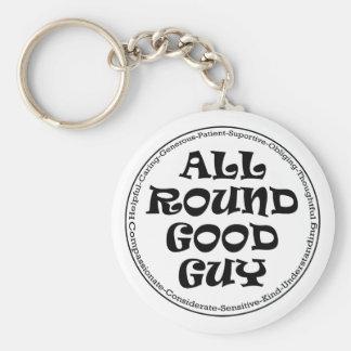 All Round Good Guy Basic Round Button Keychain