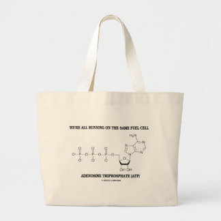 All Running On The Same Fuel Cell (ATP) Large Tote Bag