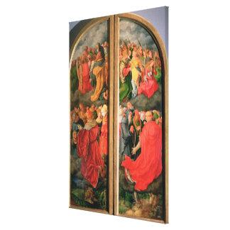 All Saints Day altarpiece Canvas Print