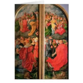 All Saints Day altarpiece Card