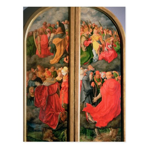 All Saints Day altarpiece Post Cards