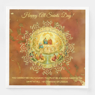 All saints day home decor pets products zazzle all saints day feast day party celebration paper dinner napkin m4hsunfo