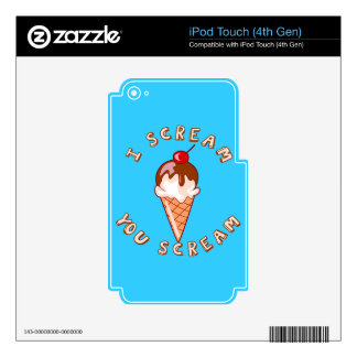 All Scream For Ice Cream iPod Touch 4G Skin