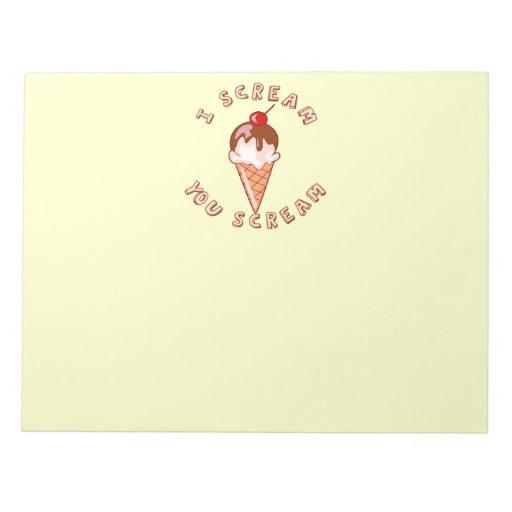 All Scream For Ice Cream Note Pad