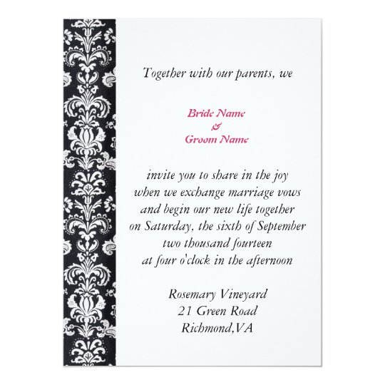 all season wedding invitation