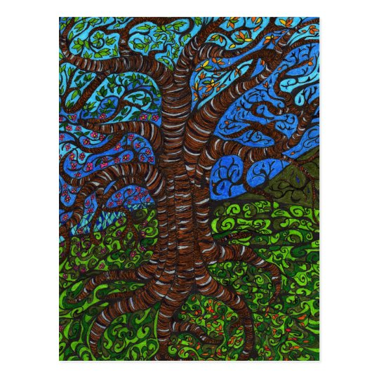 All Seasons Tree Postcard