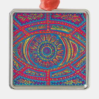 All Seeing Creativity Metal Ornament