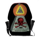 All seeing eye and bones.... messenger bag