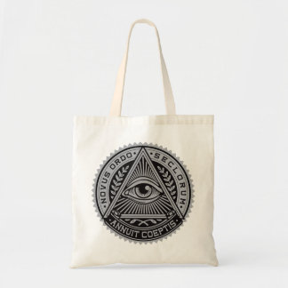 All seeing eye budget tote bag