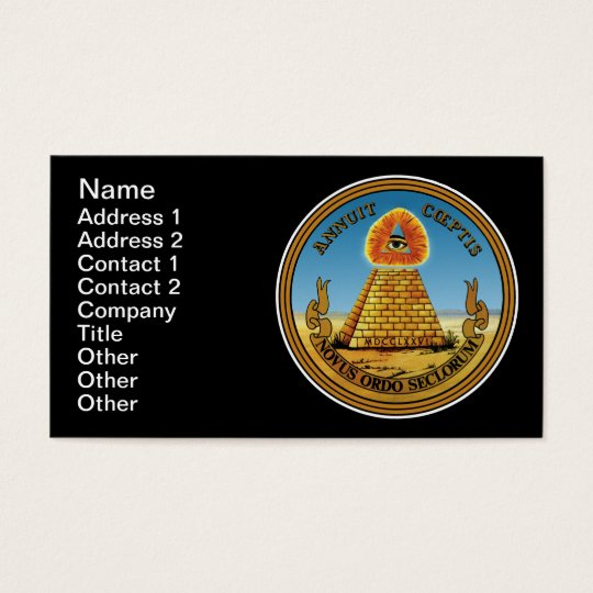 All Seeing Eye Business Card - Customizable!