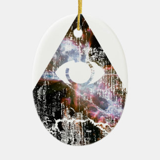 All Seeing Eye Ceramic Ornament