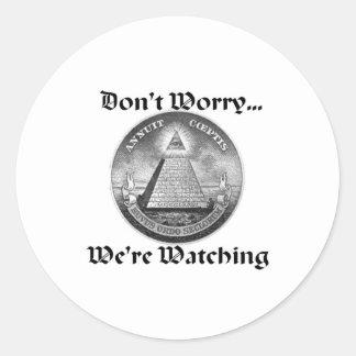 all-seeing-eye classic round sticker