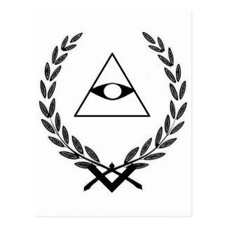 All Seeing Eye crest symbolism F&AM Postcard