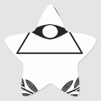 All Seeing Eye crest symbolism F&AM Star Sticker