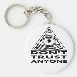 All Seeing Eye Don't Trust Anyone Keychain