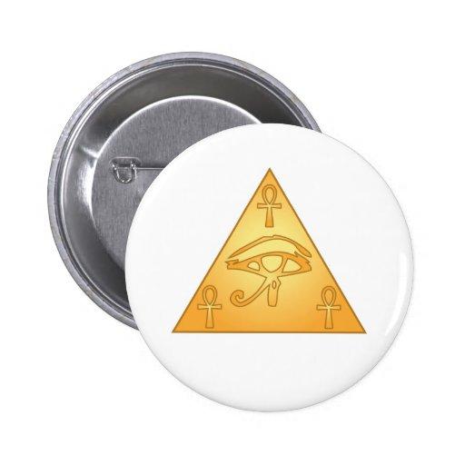 All Seeing Eye / Eye of Horus: 2 Inch Round Button