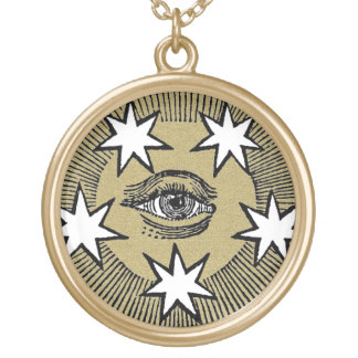 All-Seeing Eye Gold Plated Necklace